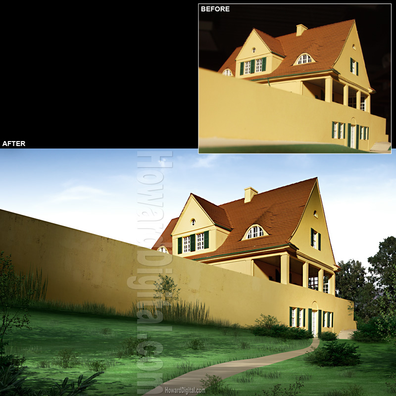 Photo Retouch - Riehl House